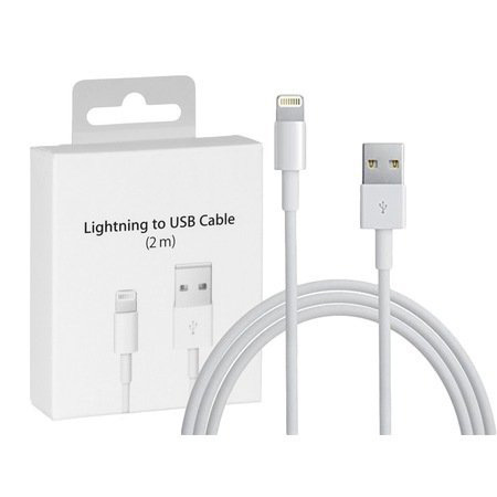 Ligthing Iphone Usb Cable  Oplader 2 Mt (Med Box)