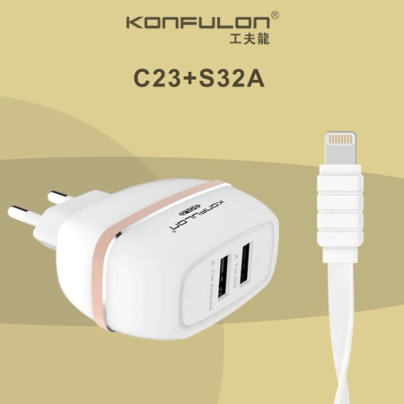 Iphone 2A Oplader /Charger 2 Usb