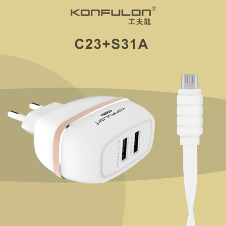 Samsung 2A Micro Oplader /Charger 2 Usb