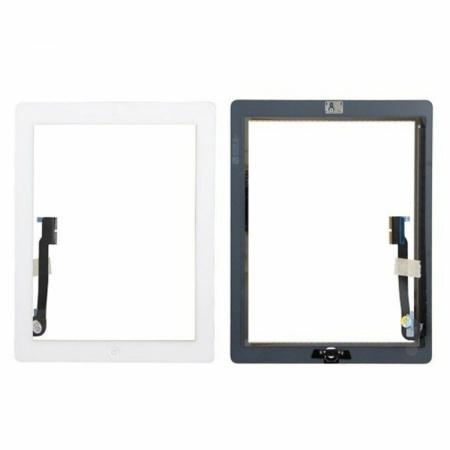 iPad 4 Touch Skærm (OEM)  - Med Home knap - Hvid