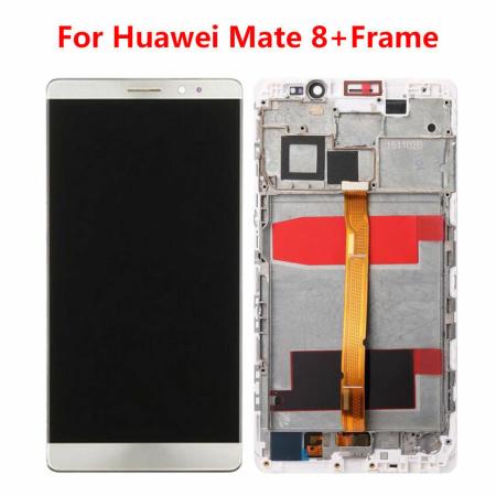 Huawei Mate 8 Skærm Med Ramme Oem Kvalitet